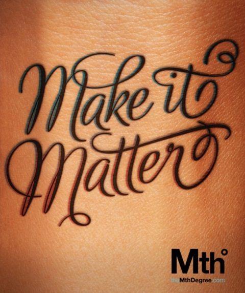 poster make it matter