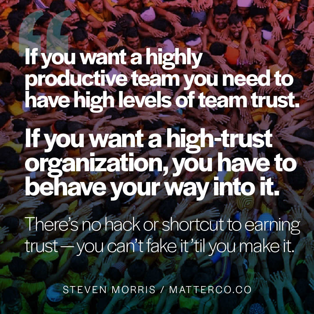 Tools to Cultivate Trust